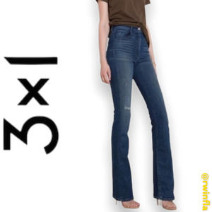 3x1 Super High Rise Bootcut Jeans Designer Size 28